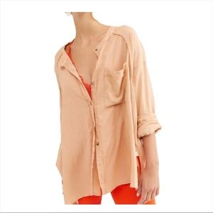 NWT We The Free Keep it simple blouse shell pink L